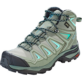 Salomon X Ultra 3 Mid GTX Kengät Naiset, shadow/castor gray/beach glass